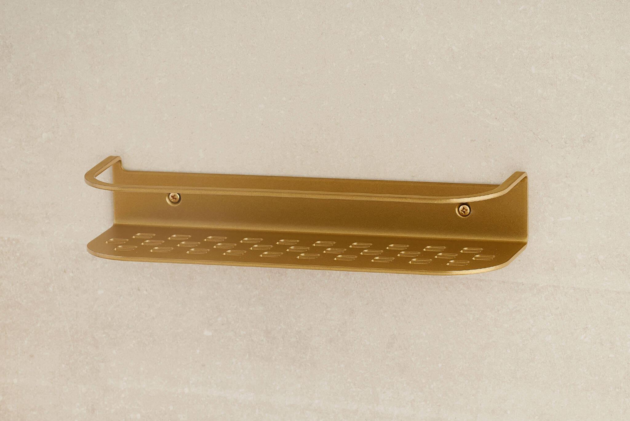 Shower Shelf 300x100x53 Anodic Brass (ID.1049)