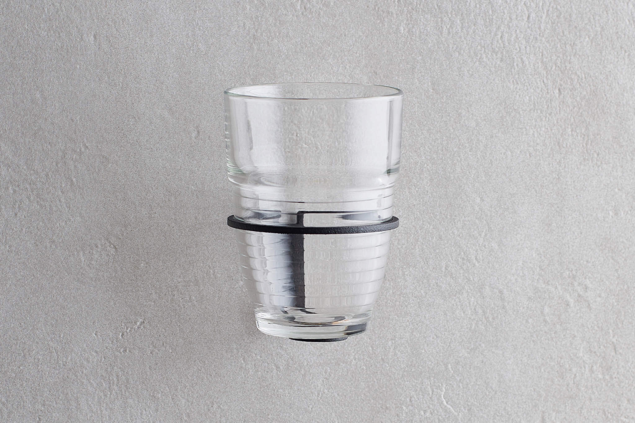 Mug Holder Black with Glass