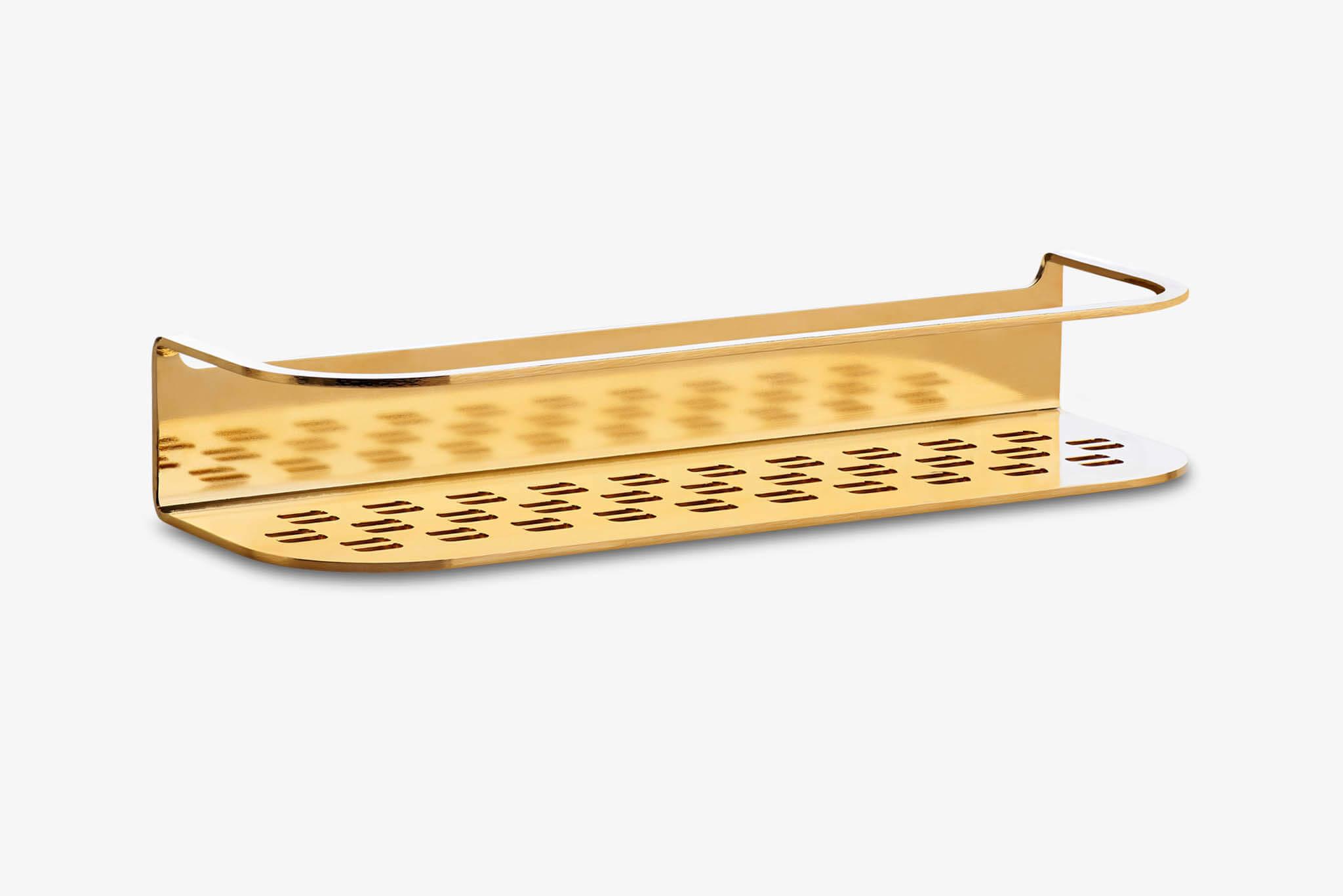Shower Shelf 300x100x53 Gold Plated (ID.1049)